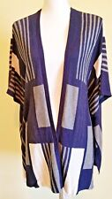 UMGEE Shawl Wrap Cape Poncho Geometric Knit Medium Large