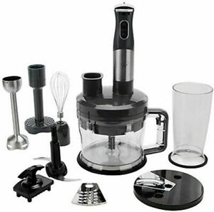 NEW - Wolfgang Puck 7-in-1 Immersion Blender w/ 12-Cup Food Processor, Black