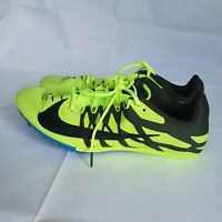 New Nike Zoom Rival Men's Track Spikes Shoes Volt Black 907564 703 Size 14
