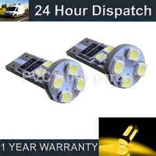 2X W5W T10 501 CANBUS ERROR FREE COLOR AMBRA LUCI LATERALI A 8 LED