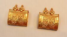 SINGLE 22CT 22K INDIAN VINTAGE GOLD NECKLACE AMULET PENDANT LOCKET JEWELRY