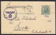 USA 1 C. Ganzsache Zensur, Reading - Gera 1940, GA