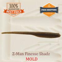 Finesse ShadZ Shad Bait Mold Fishing Soft Plastic Lure 100-175 mm