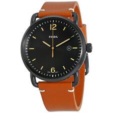 Fossil Commuter Black Dial Mens Leather Watch FS5276