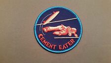 skateboard cement eater embroidered patch