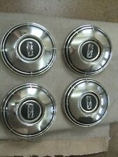 Hubcaps Set Of 4 1960s 1970s Ford Galaxie Fairlane Mustang 10 12 Dog Dish