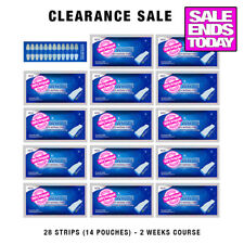 28 PROFESSIONAL TEETH WHITENING STRIPS ENAMEL SAFE RAPID RESULTS 14 POUCHES