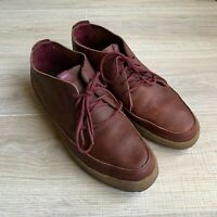 Nike Leather 6.0 Rizal Low Premium Chukka 454287-600 Gum Sole Mens Sz 12 Maroon