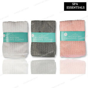 3 x MICROFIBER FACE CLOTH Super Absorbent  Lightweight Make Up Remover cleansing