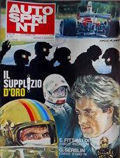 Autosprint 51-52 1974 Fittipaldi casco iridato 74, Serblin casco d'oro 74
