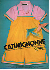 PUBLICITE ADVERTISING  1980   CATIMINI   vetements enfants