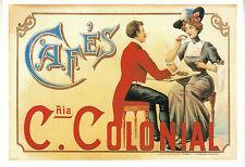 Carte publicitaire  Cafés Compagnia Colonial