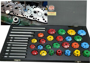 CUSTOMIZED VALVE SEAT RESTORATION SET CARBIDE TIPPED CUTTERS WITH 30,32,45,90 DG