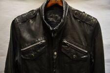 AllSaints Spitalfields Leather Jacket/Shirt Size L (Jack's Place)
