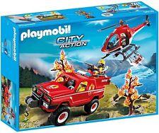 PLAYMOBIL Hélicoptère et 4x4 Pompier 9518 / Enfant Garçon Fille jeu jouet NEUF