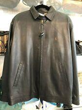 POLO RALPH LAUREN Brown Classic Zip Front Leather Jacket Sz M $900
