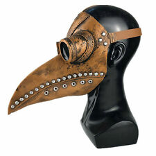 Peste Doctor Máscara Disfraz de Halloween Pájaro Nariz larga Pico Cuero de PU
