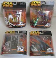 Star Wars ROTS Complete Set All 4 Figures Darth Vader~Yoda~Vulture Droid~Trooper
