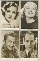 Lot of 12 Vintage 1930s UK issued Movie Star Postcards RPPC Veidt BENNETT Donat