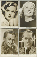 Lot of 12 Vintage 1930s UK issued Movie Star Postcards RPPC Veidt BENNETT Donat