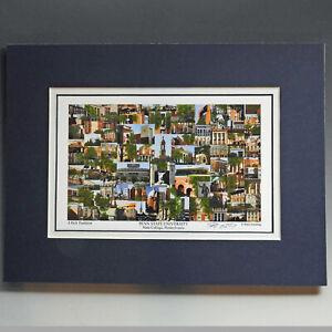 "Penn State University, multiple sizes 9x12"",12x16"" campus photo collage alumni"