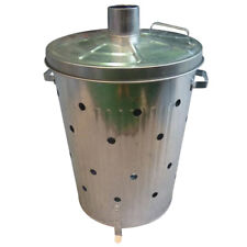 GARDEN RUBBISH FIRE BIN GALVANIZED INCINERATOR PAPER LEAF WOOD WASTE BURNER 90L