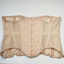 "Orchid Corsetry beige cotton mesh underbust corset cincher 29"""