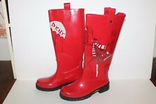 DKNY Active Rain Boots, Cream/Black, #23304146, Red/Black, Women's US Size 7