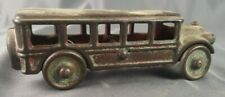 "Vintage Antique Cast Iron 5"" School Bus Toy Collectible"