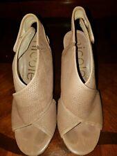 nicole miller sandals, color tan, size 6.5,
