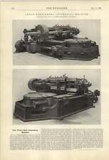 1921 Large Worm Wheel Generating Machine William Muir Manchester