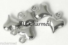 20pc Silver HEART DROPS - Dangle Charms Jewelry Making Anklets Bracelets