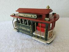 Vintage San Francisco Cable Car Music Box Powell & Hyde Sts Wooden Trolley