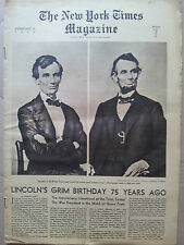 rare journal THE NEW YORK TIMES BOOK REVIEW february 12 1939 ABRAHAM LINCOLN