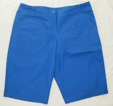 LIZ & CO NEW Womens Royal Blue Cotton Shorts Size 12