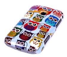 Hülle f Samsung Galaxy Young S6310 Schutzhülle Tasche Case Cover Owl kleine Eule