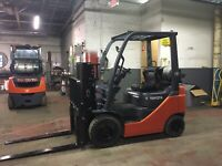 2010 Toyota 3000 Lb Solid Pneumatic Forklift With Side Shift