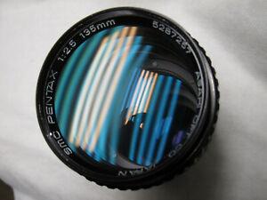 *6 elements Mint-* Pentax SMC Super Multi Coated TAKUMAR 135mm f2.5 M42 Screw