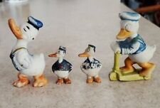 1930's Walt Disney Donald Duck Bisque Figure'S Set of (4) Japan