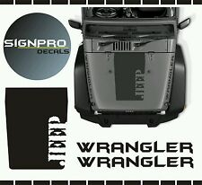 New 3 piece Hood Decal Blackout pattern fits Jeep Wrangler Various Styles