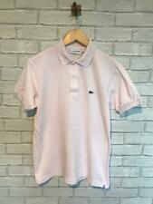 Mens Vintage LACOSTE PinkShort Sleeved Polo Shirt Size 3 Small #C4478
