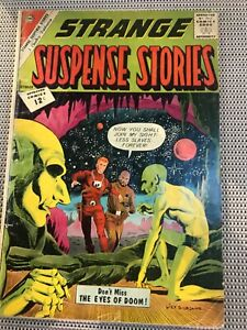 STRANGE SUSPENSE STORIES #61 : Charlton Comics Oct. 1962 Gd+ 2.5; green aliens