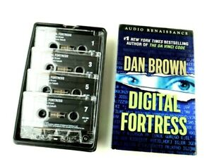 Dan Brown Digital Fortress Abridged 4 Tapes Audiobook Audio Book Cassette Tapes