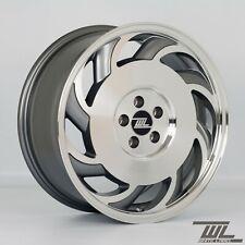 "4 x White Label C4 Grey 17"" x 7.5"" 5x100 ET35 alloys fit Golf VW Seat Skoda Audi"