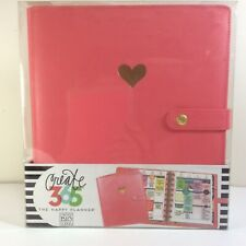 Happy Planner Classic Deluxe Cover Salmon Gold Heart Snap Closure 9 Disc Size