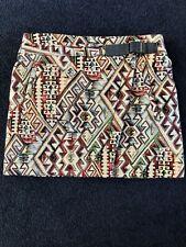Ba&sh Tapestry Mini Skirt Wrap Around UK S A-line Summer Net A Porter 70's Vibe