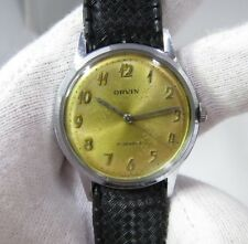 ORVIN,1960's 17j Manual Wind,Classic Round Tropic Type Band RARE MEN'S WATCH,181