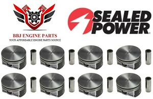 (8) CHEVROLET GM GENIII 6.0 LQ9 LS2 G8 NEW SEALED POWER HYPEREUTECTIC PISTONS
