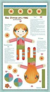 Rag Doll Toy Cut Sew & Stuff Craft Panel By Henry Glass, Cotton Fabric