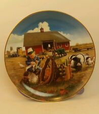 Little Farmhands Too Busy to Play Donald Zolan Danbury Mint Collectors Plate
